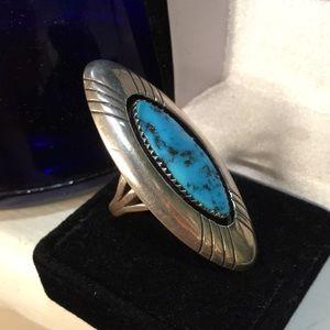 Jewelry - Vintage Navaho Kingman Turquoise Ring